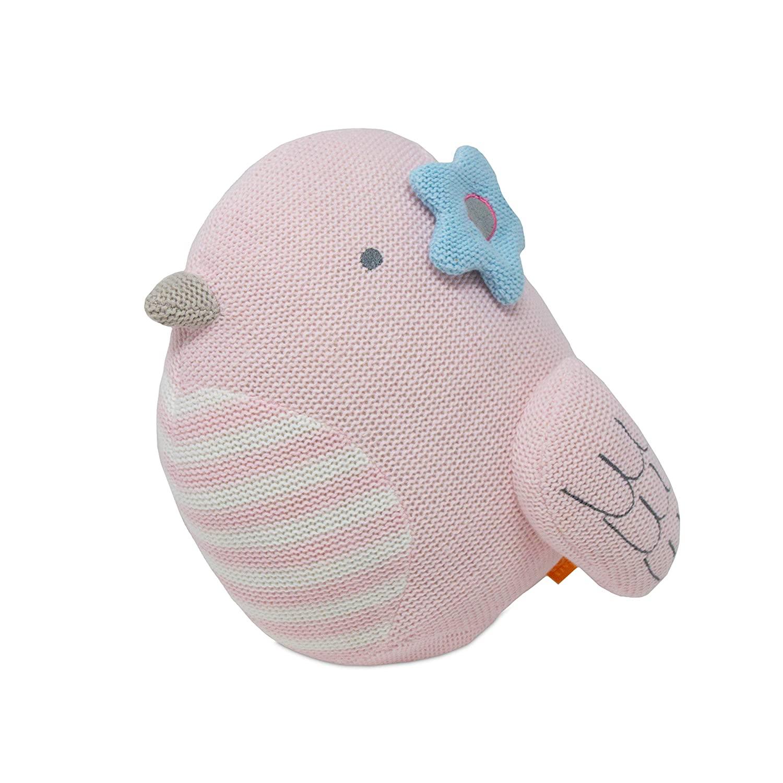 Lolli Living Cotton Knitted Toy - Mazie Pink Bird