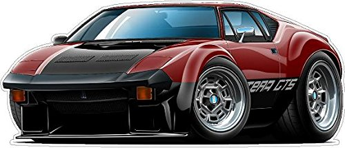 1973 Pantera GTS Wall Decal Vintage 3D Car Movable Stickers Vinyl Wall Stickers for Kids Room