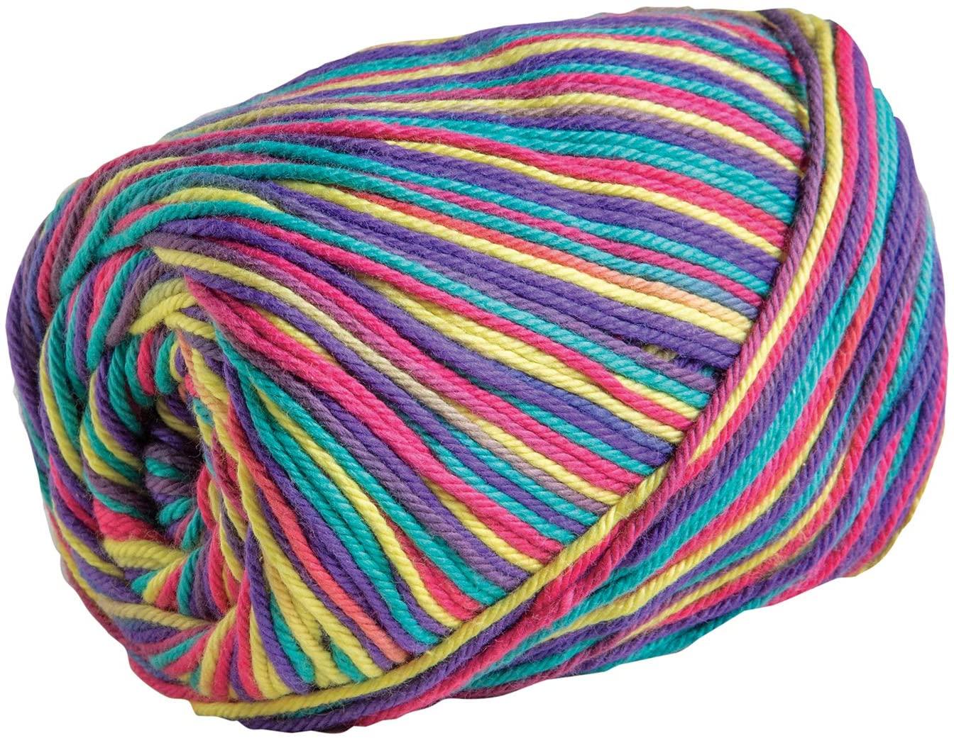 Knit Picks Dishie Multi Worsted Weight 100% Cotton Yarn - 100 g (Summer Jams)