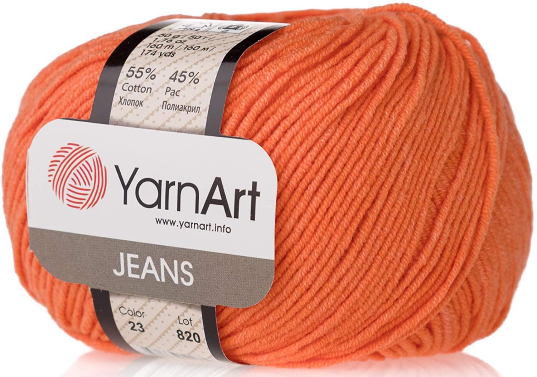 4 Skein 55% Cotton 45% Acrylic YarnArt Jeans Yarn 200 gr 696 yds (23)