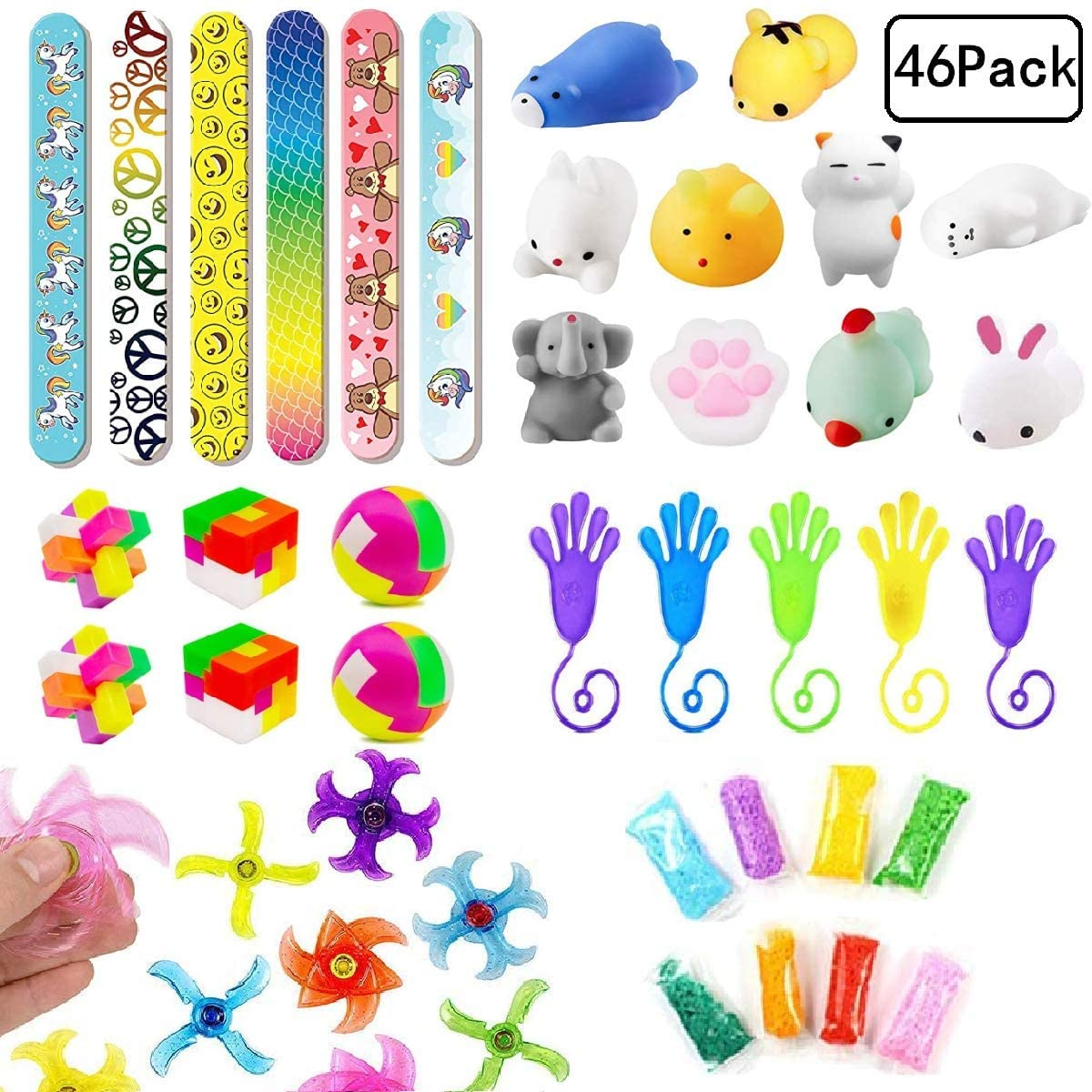 46 PCS Carnival Prizes for Kids Birthday Party Favors,Prizes Box Toy Assortment,Pinata Filler,Goodie Bag Fillers,Treasure Box Prizes,School Classroom Rewards,Christmas Stocking Stuffers
