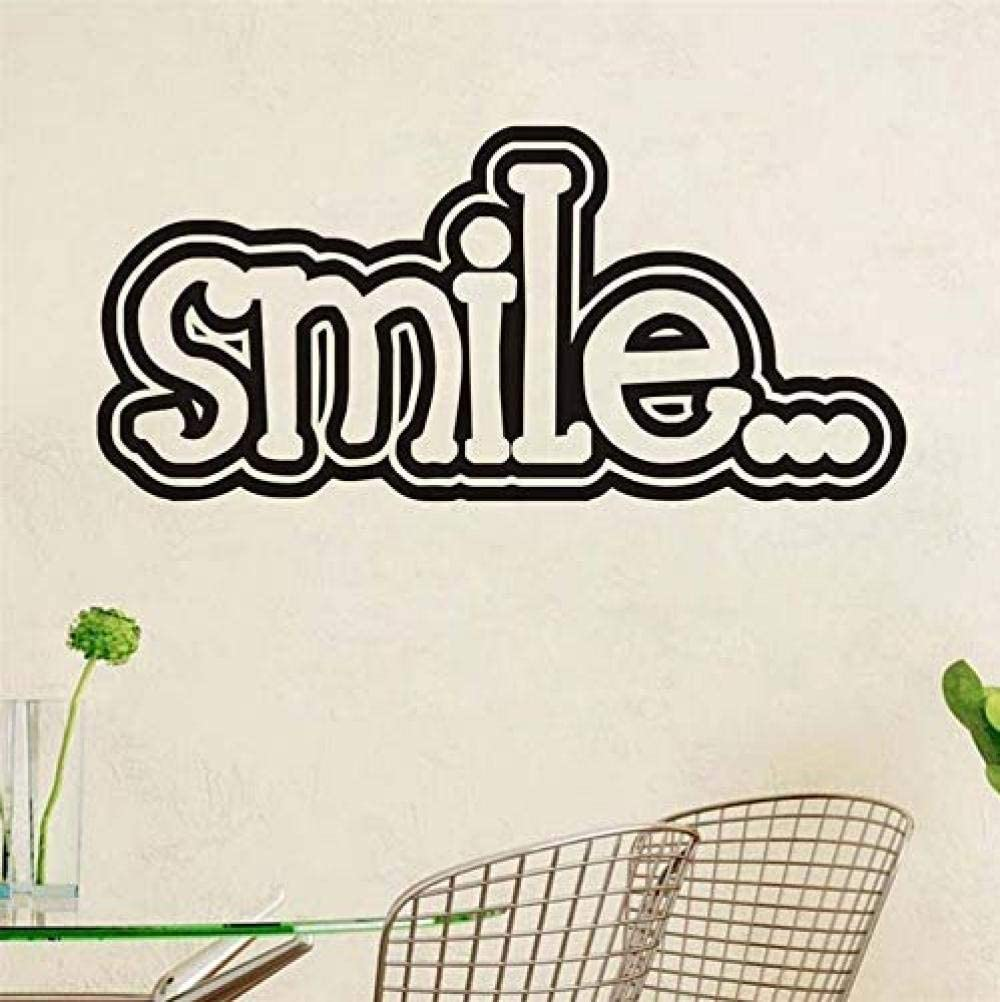 dferh Wall Sticker Smile Inspirational Quotes Quote Wall Stickers Vinyl Wallpaper Mural Art Decal Baby Girl Kids Bedroom Home Decoration121X56 cm