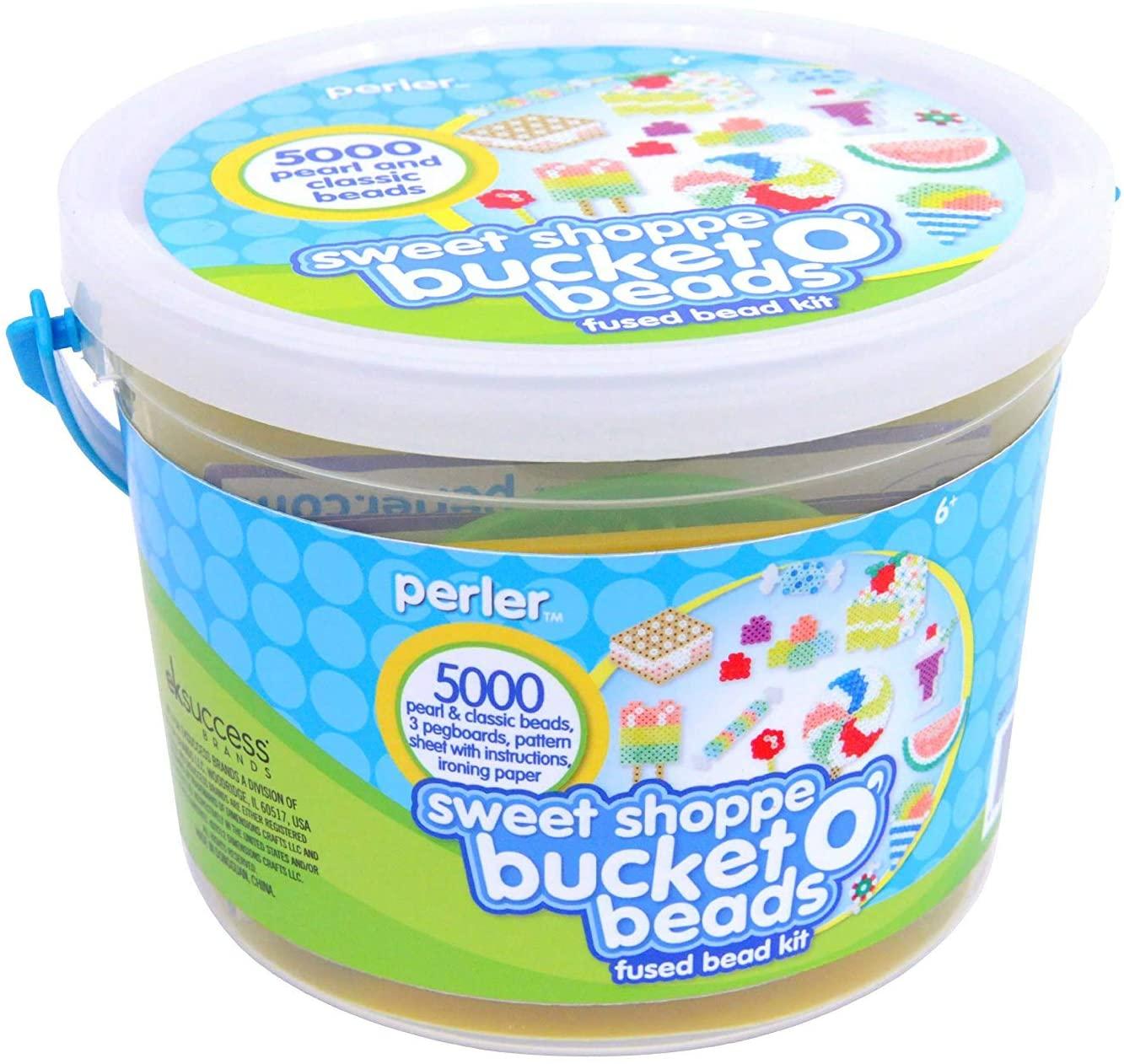 Perler Beads Sweet Shoppe Fuse Bead Bucket Craft Activity Kit, 5005 pcs