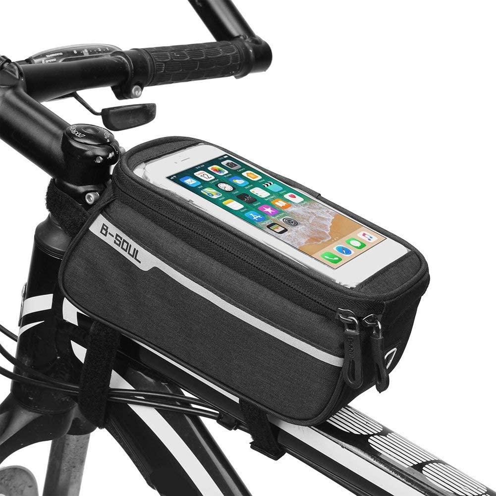 VASTAIR Bike Frame Phone Bag Handlebar Bag MTB Bicycle Top Tube Bag Sensitive Bike Phone Mount Bag Handlebar Bike Phone Case Holder