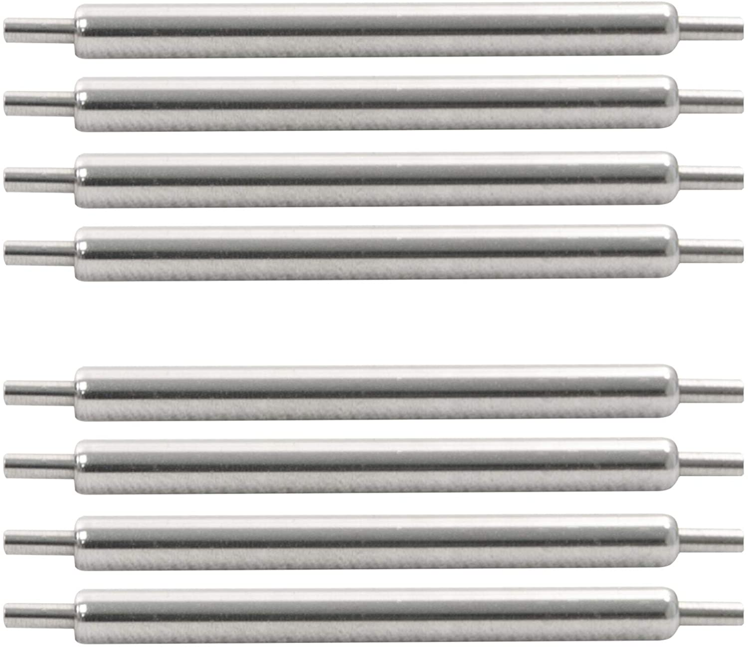 Marathon Watch Swiss Made Stainless Steel Shoulderless Spring Bars - Available in 18mm, 20mm, and 22mm
