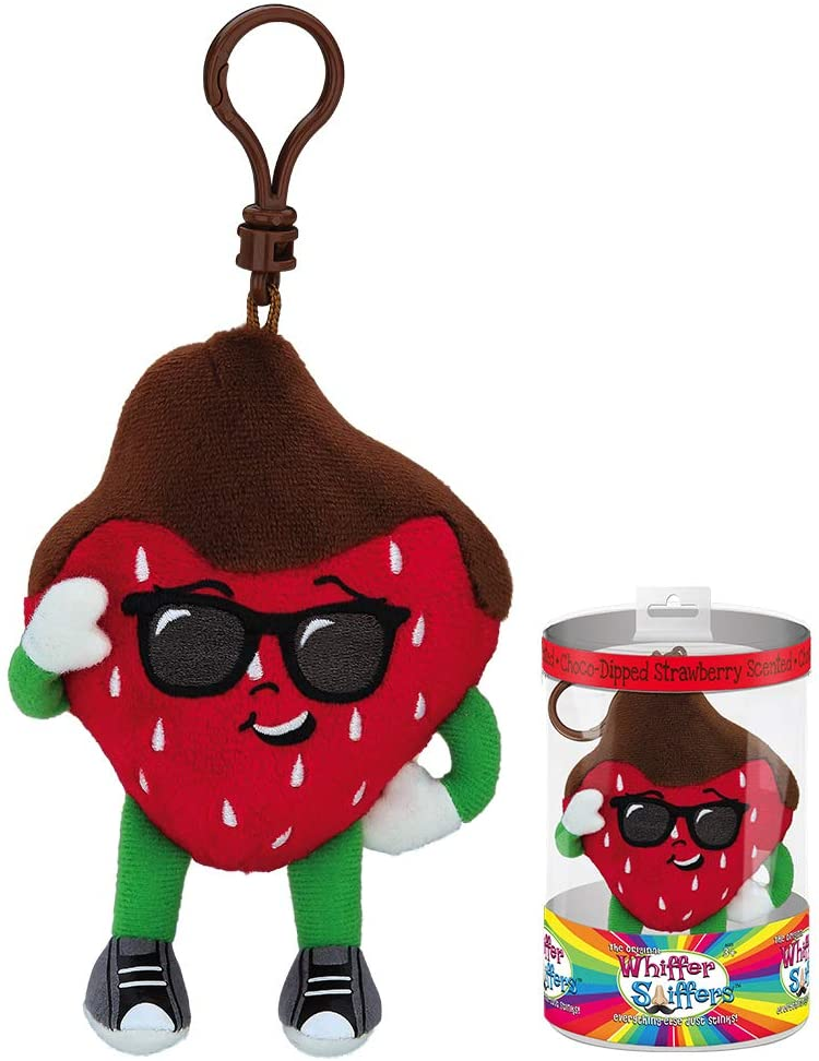 Whiffer Sniffers Danny Dipperelli Chocolate Dipped Strawberry Scented Backpack Clip, 4.5