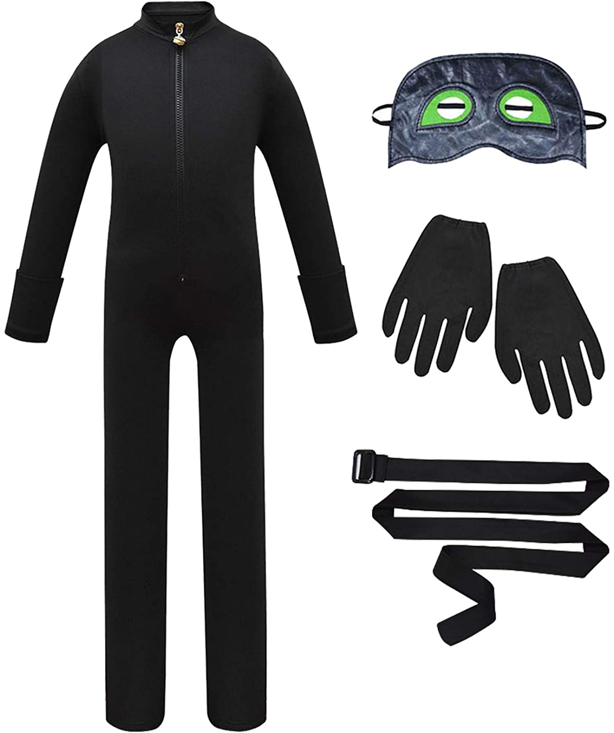 Boys Cosplay Outfit Unisex Birthday Party Role Play Jumpsuit Set 4Pcs