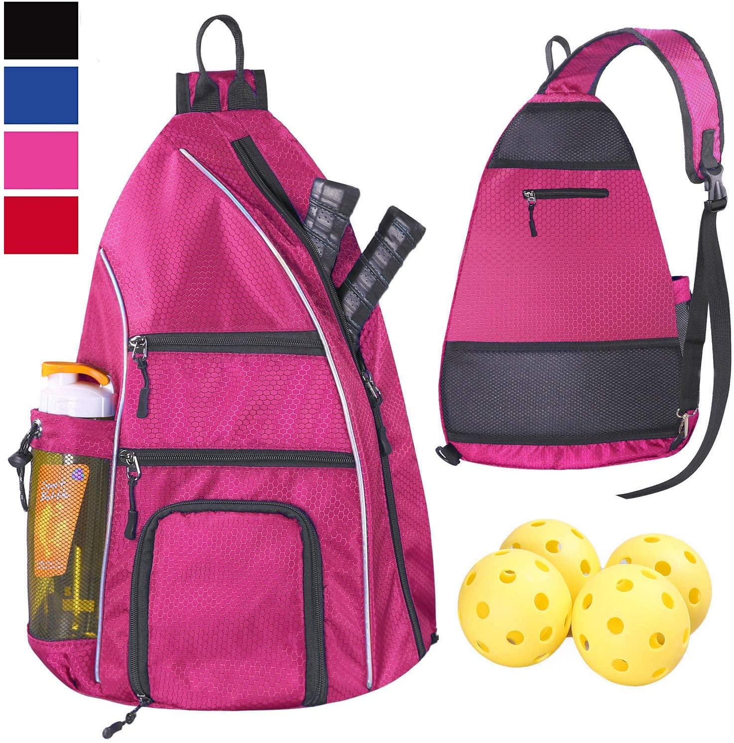 LLYWCM Pickleball Bag | Sling Bags - Reversible Crossbody Sling Backpack for Pickleball Paddle, Tennis, Pickleball Racket and Travel for Women Men
