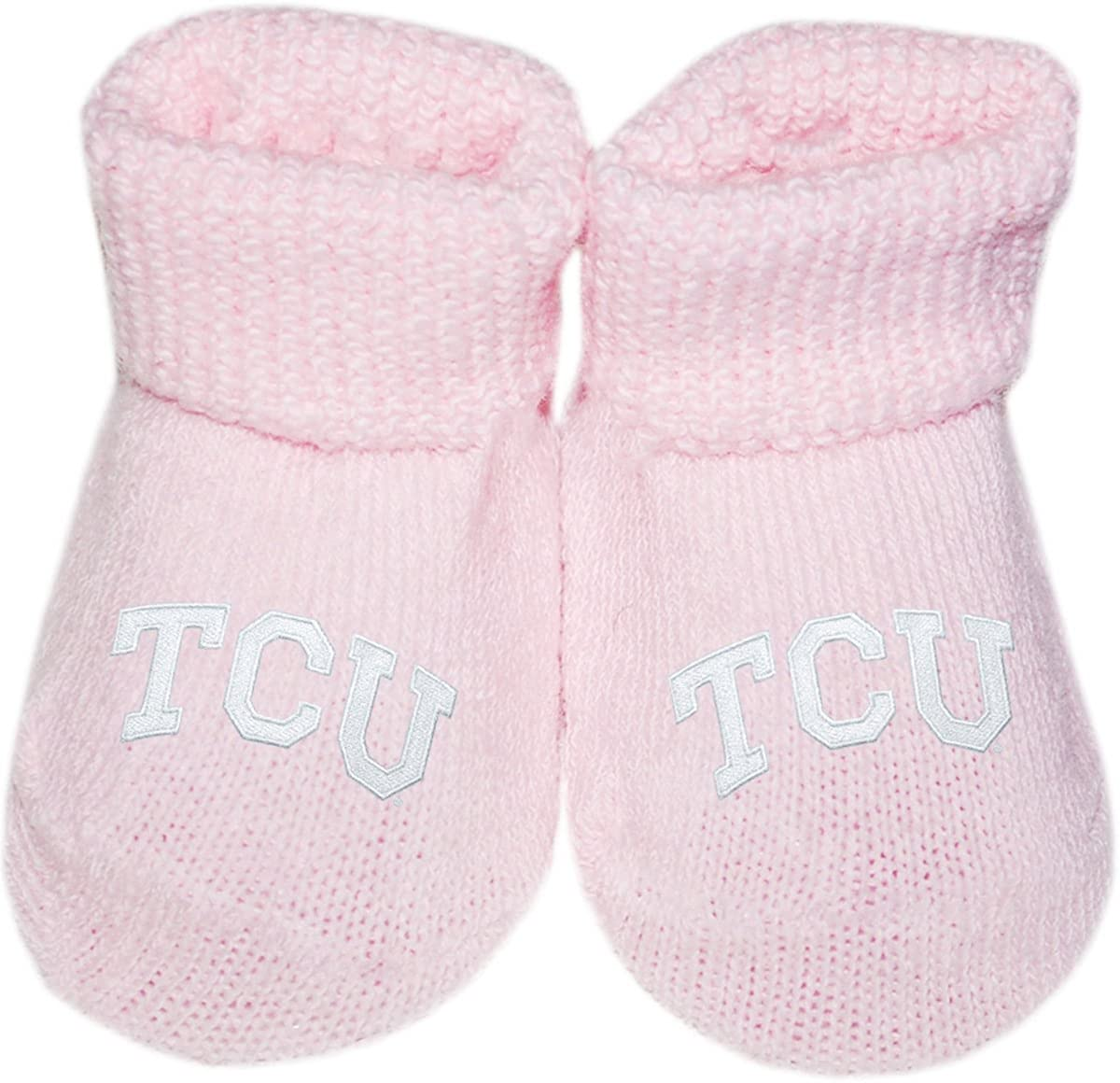 Texas Christian University TCU Newborn Baby Bootie Sock