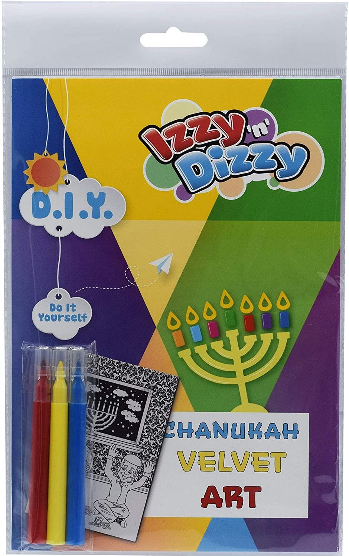 Izzy 'n' Dizzy Hanukkah Velvet Art Kit - Includes 8
