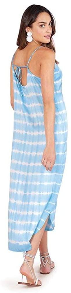 Mud Pie Women Blue Amma Tie Dye Midi Dress