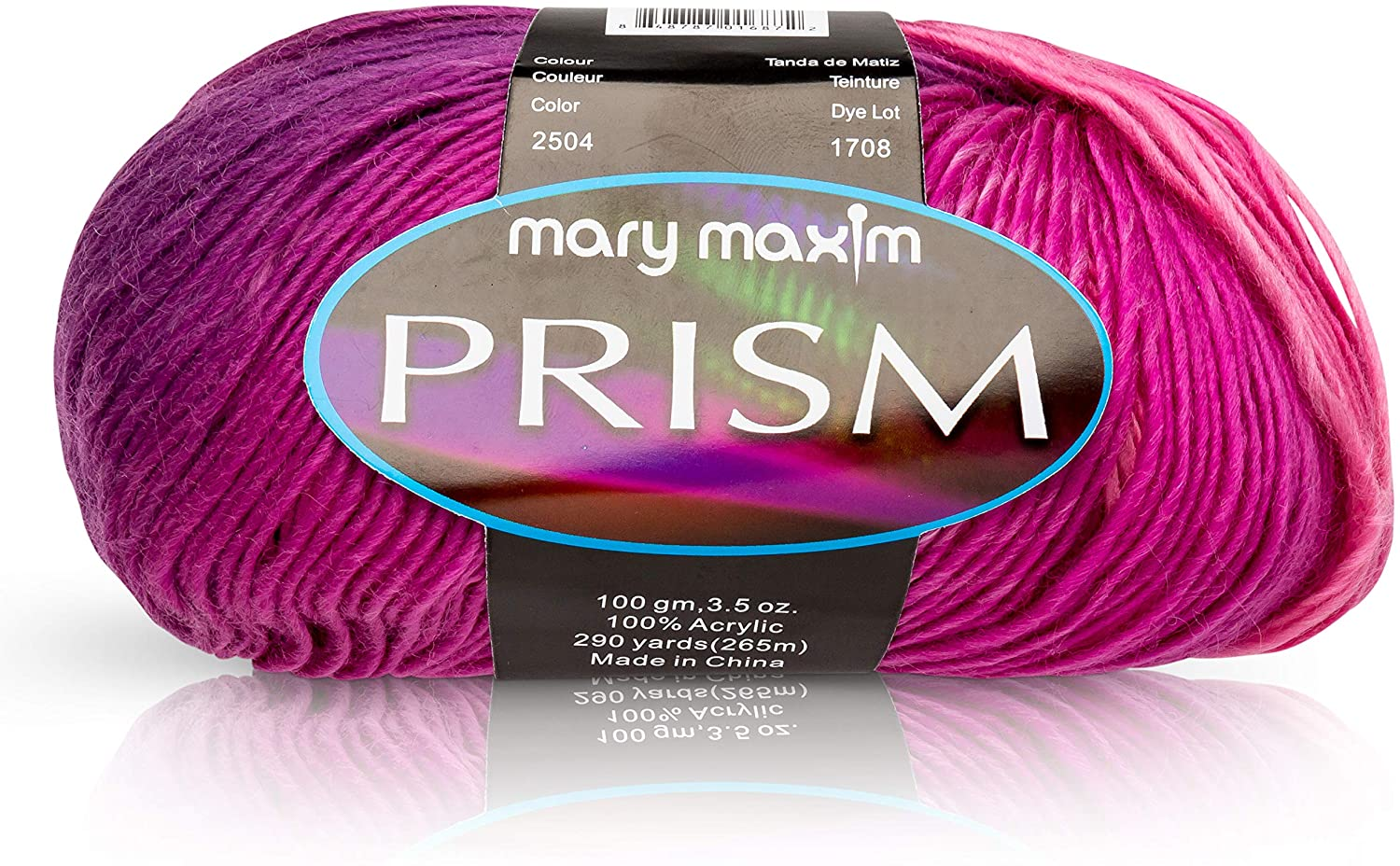 Mary Maxim Prism Yarn - 3 Light Weight Yarn for Knitting & Crochet Projects - 100% Acrylic - DK Worsted - Roving Yarn - 290 Yards (Wild Orchids)