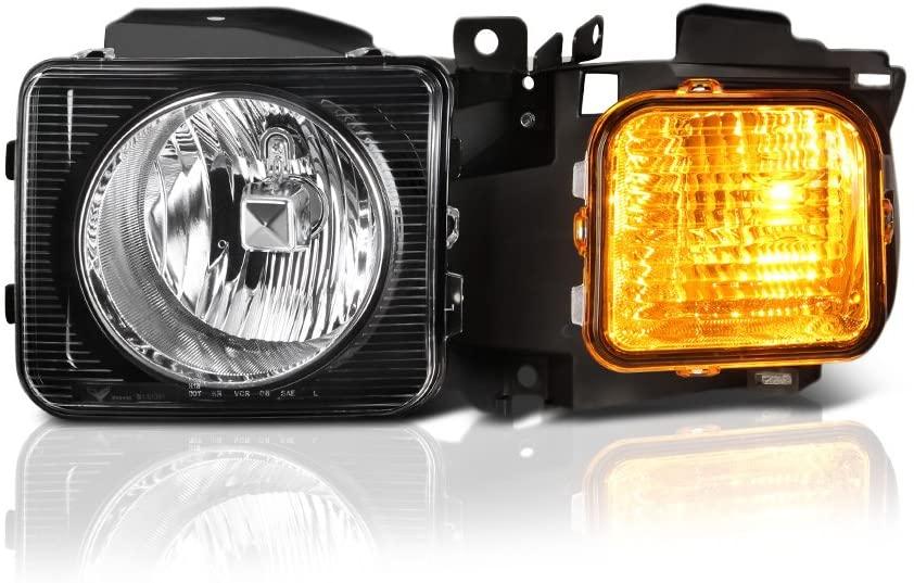 VIPMOTOZ Chrome Bezel OE-Style Headlight Headlamp Assembly For 2006-2010 Hummer H3 & H3T, Driver Side