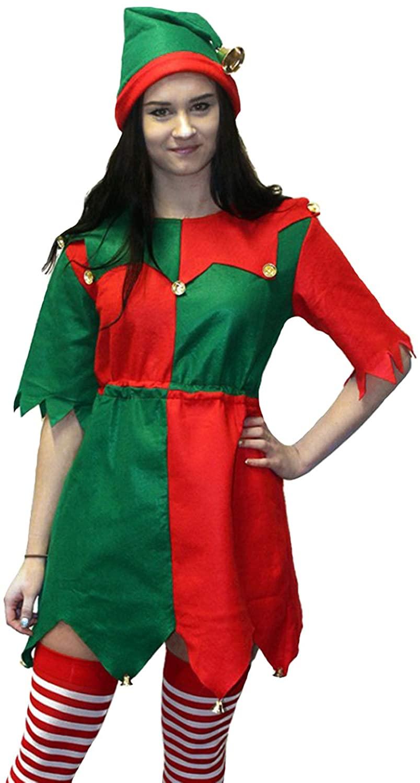 Morph Womens Christmas Toyshop Elf Costume for Women Adult Festive Fancy Dress