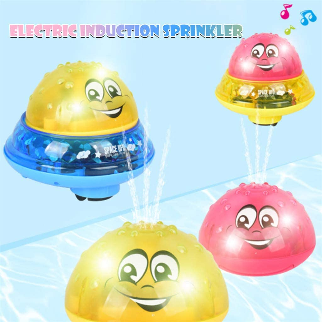 4pcs Nepdome Lovely Baby Rubber Electric Induction Spray Ball Infant Family Bath Light Toy Kid Game Toys Led Lamp Bath