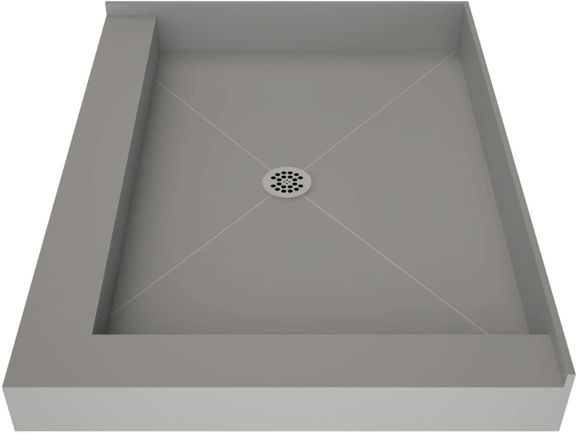 Tile Redi 4837CDL-PVC Redi Base Shower Pan, Left Dual Curb 37