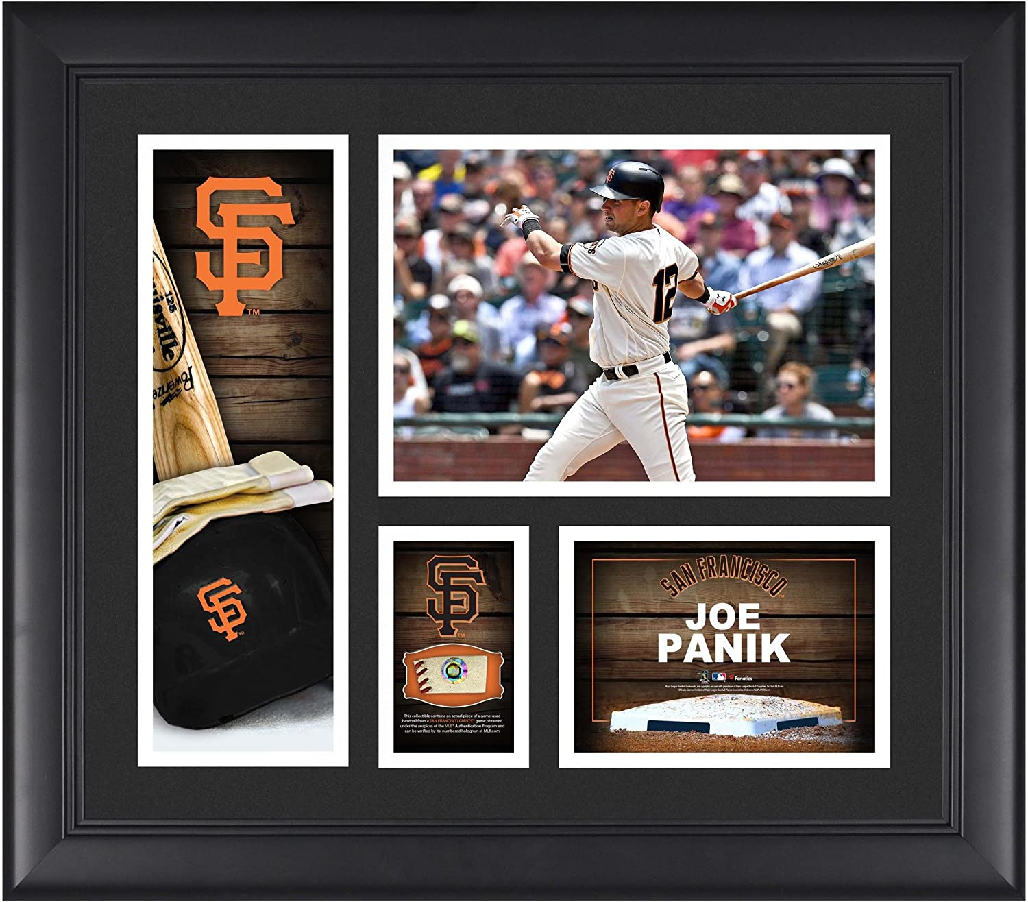 Joe Panik San Francisco Giants Framed 15 x 17 Player Collage with a Piece of Game-Used Ball - MLB Player Plaques and Collages