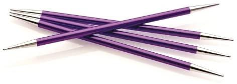 Double Point Knitting Needle, US 4, Stiletto Point, Set of 5 Needles