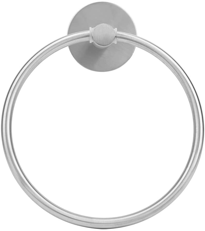 Bracon Towel Ring - Stainless Steel Simple Round Towel Hanger Free Punch Wall Mounted Hand Towel Rack Holder for Bathroom(Silver)