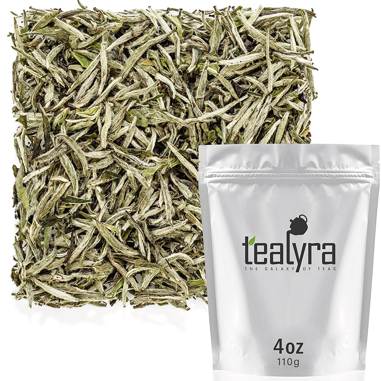 Tealyra - Premium White Silver Needle Tea - Bai Hao Yinzhen - Organically Grown in Fujian China - Superior Chinese Silver Tip White Tea - Loose Leaf Tea - Caffeine Level Low - 110g (4-ounce)