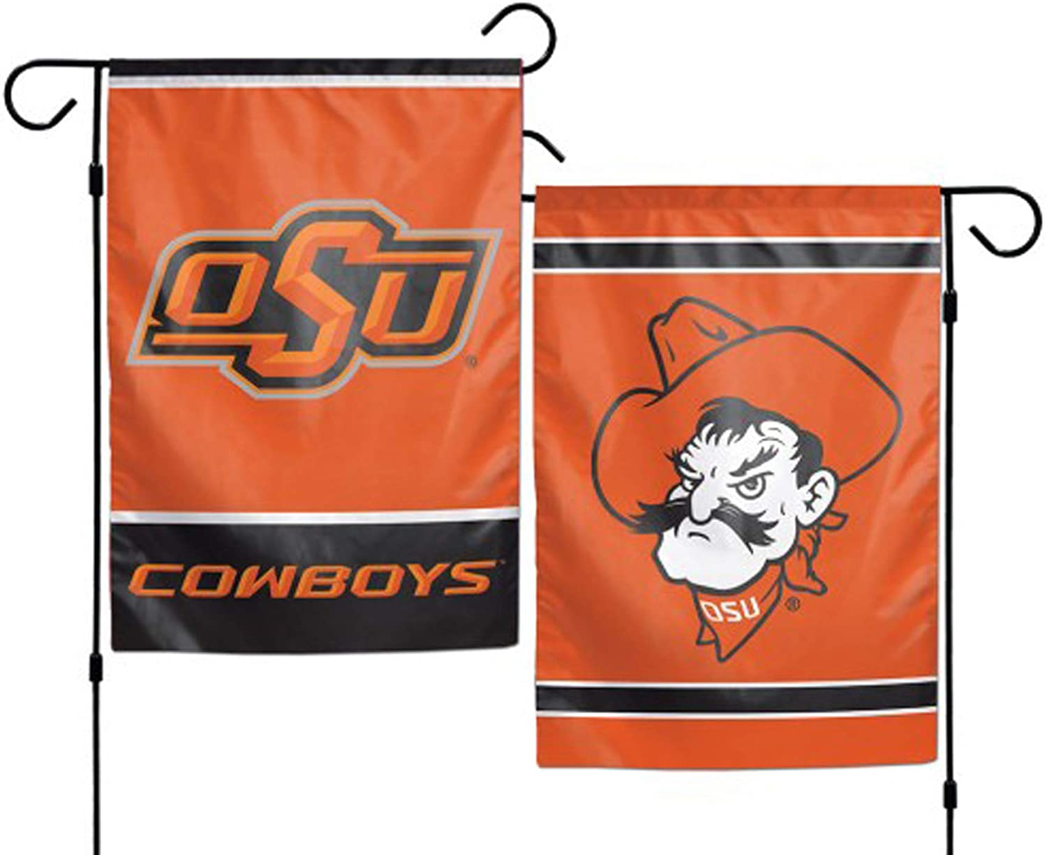 WinCraft NCAA Oklahoma State University 12x18 Inch 2-Sided Outdoor Garden Flag Banner