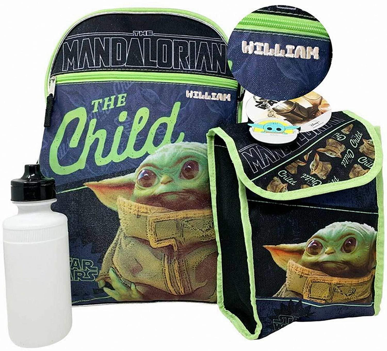 Personalized Mandalorian Baby Yoda Backpack - 16 Inch
