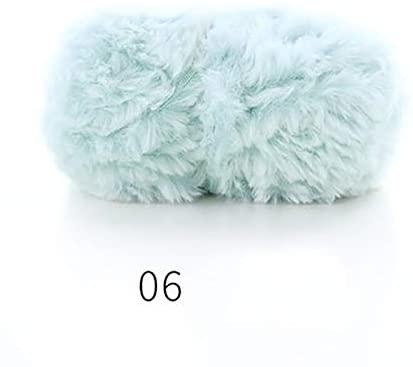 xinchenglove 1.76 Ounce / 3.52 Ounce / 7.05 Ounce/Ball Soft Warm 100% Polyester Faux Mink Fur Yarn for Hand Knitting Crochet DIY Scarf Coat Earmuffs Gloves AQ014 (N06,1.76 Ounce)