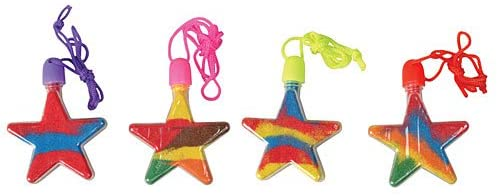Star Sand Art Necklace Package of 12