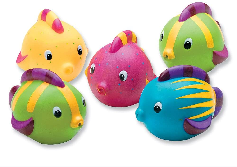 SmileMakers Tropical Fish Squirt Toys - Carnival and Fair Prizes - 24 per Pack