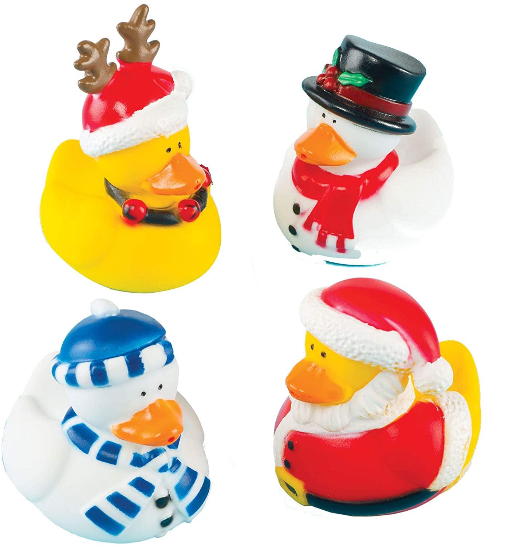 Baker Ross Funky Christmas Ducks (Pack of 4) Perfect Christmas Stocking Stuffer for Children