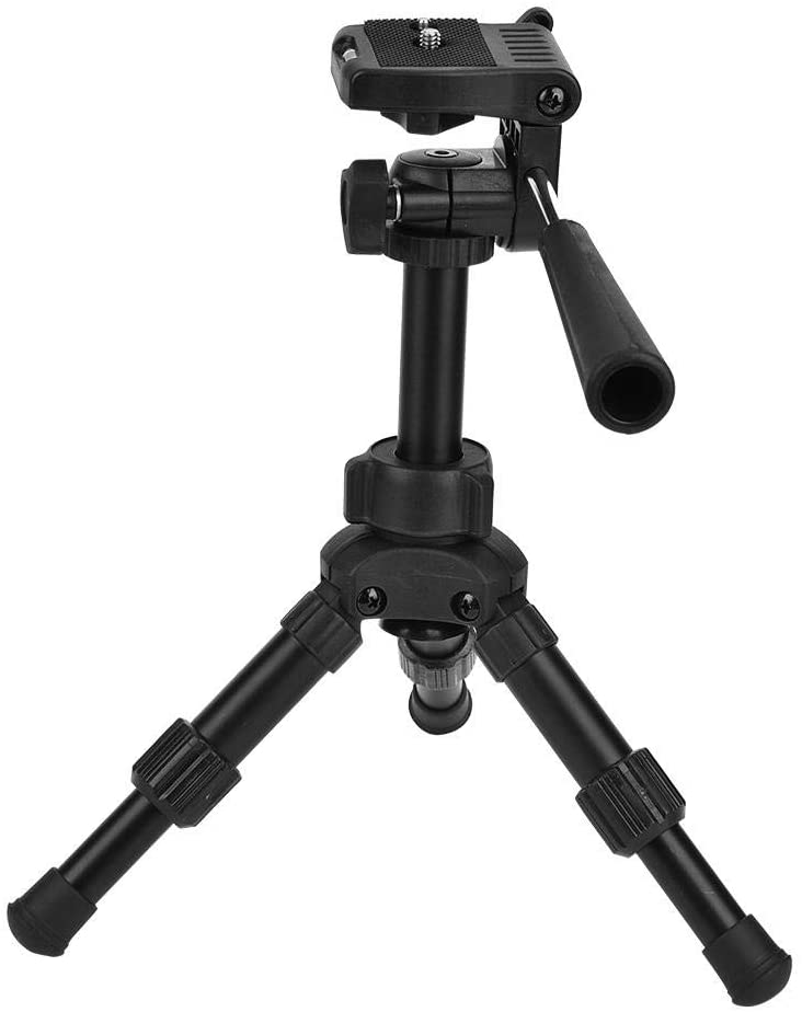 Portable Mobile Tripod kit, 4 in 1 Aluminum Alloy Foldable Ball Head Tripod with Phone Clip,Level and Handle for Mobile Phone, Camera Shooting, Live Broadcast, Online Education, Vlog