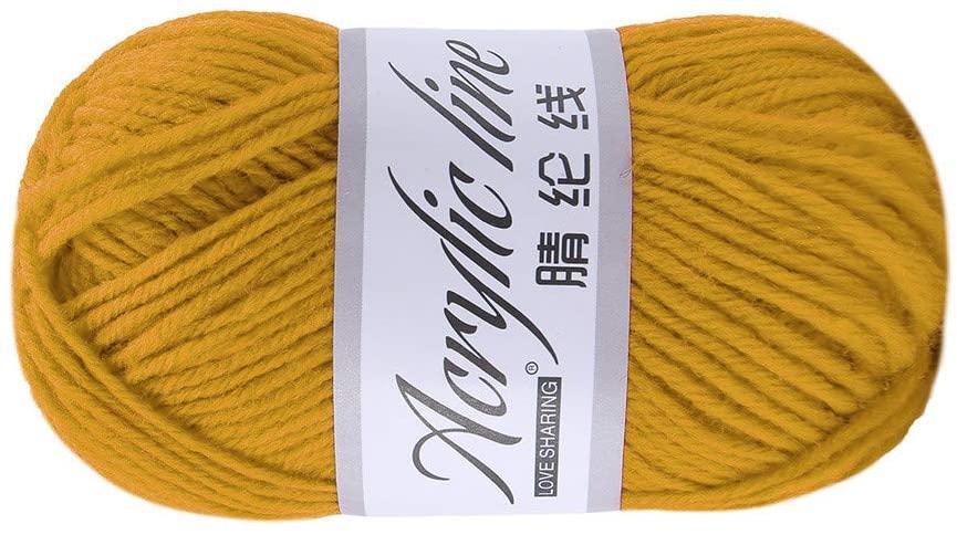 Clearance Sale !! Knitting Yarn,1PC 50g Bulky Chunky Yarn Acrylic & Wool Soft Crochet Yarn Cotton Wool Group Yarn for DIY Wool Yarn Crochet Knitting (F)