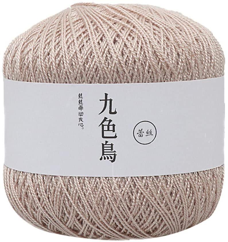 Lace Thread DIY Woven Cotton Fine Cotton Thread Crochet Yarn 8th, Home Textiles, Home & Garden (U)