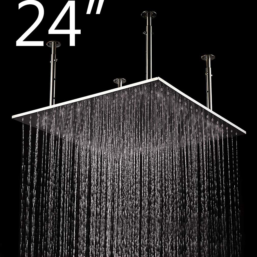 Cascada Ceiling Mount Rainfall LED Shower Head, (include Shower Arm) (24