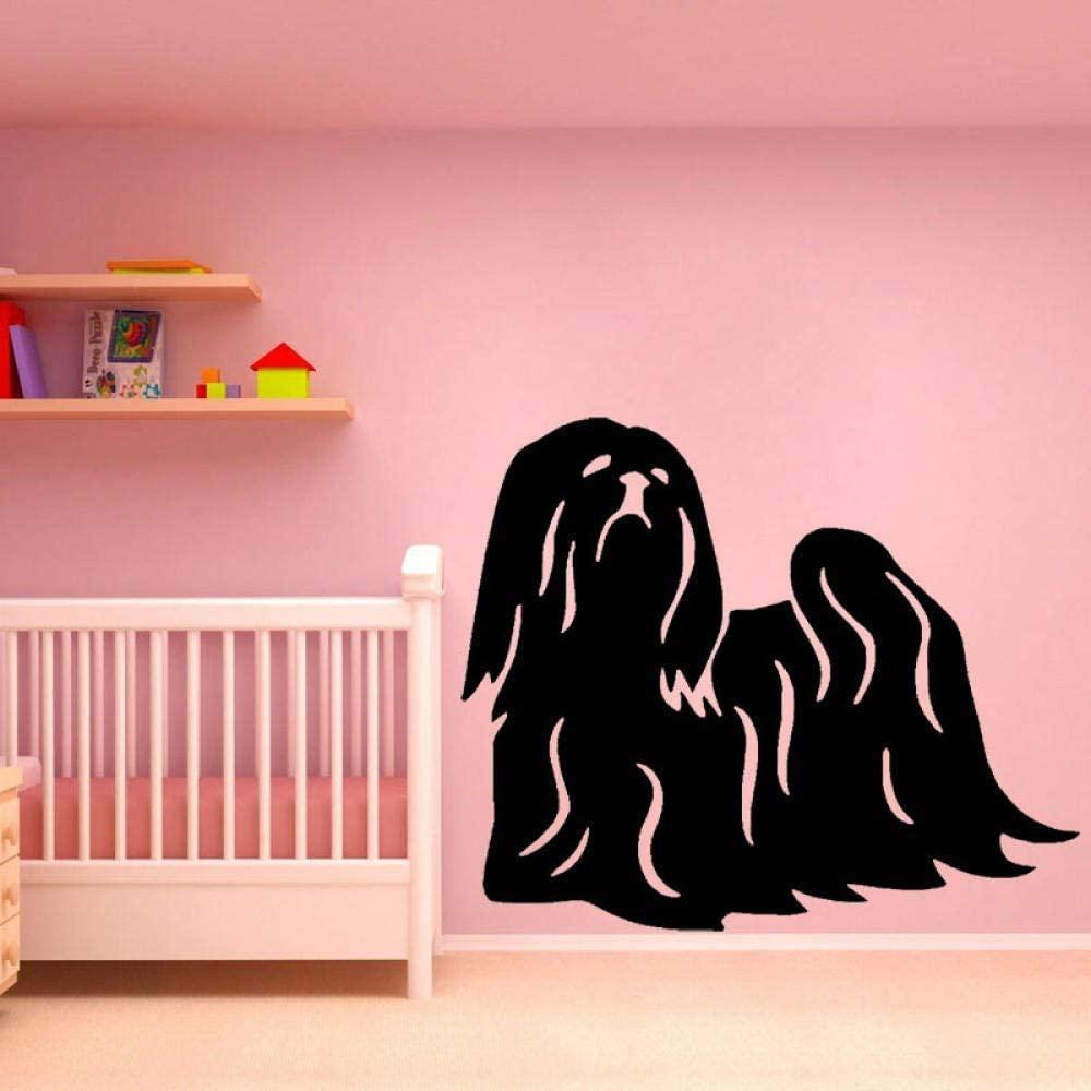 55Cm45.6Cm Fun Animal Dog PVC Wall Sticker Decor for Kids Room Decal