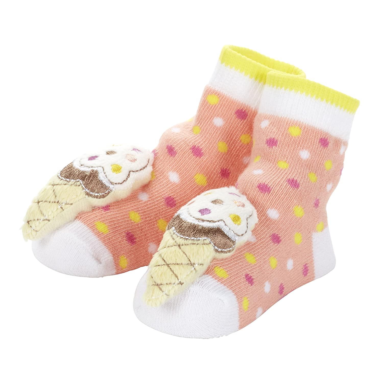 C.R. Gibson Rattle Toe Single Pair Socks, Ice Cream