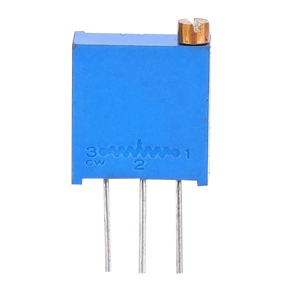 100Pcs Variable Resistor Potentiometer High Accuracy 3296 Potentiometer Assorted Kit 100-1000K Top Adjustment Horizontal Replacement Kit (1000K)