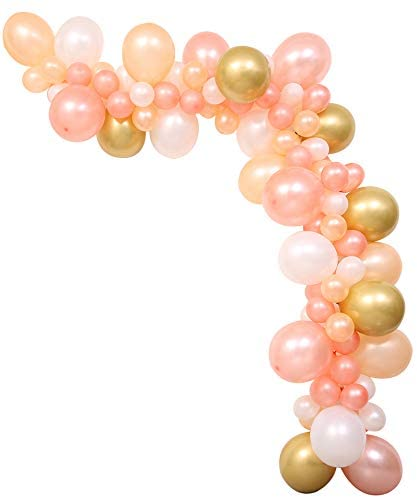 Balloon Garland Arch Kit For Baby Girl - 106pcs Sparkling Champagne Gold Balloon Suit, Diy Balloon Arch Garland Kit, Best Baby Girl Birthday Party Decorations