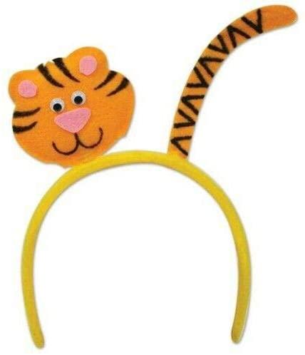 Tiger Headband Child Size Safari Jungle Zoo Birthday Party Favors