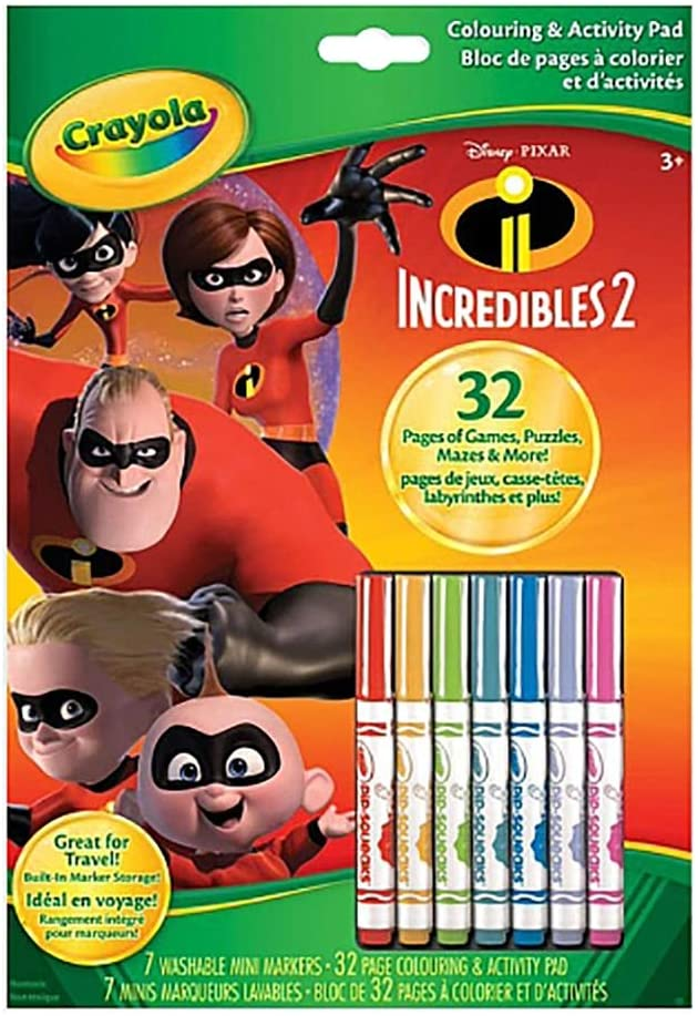 Crayola Incredibles 2 Coloring & Activity Pad w/Markers