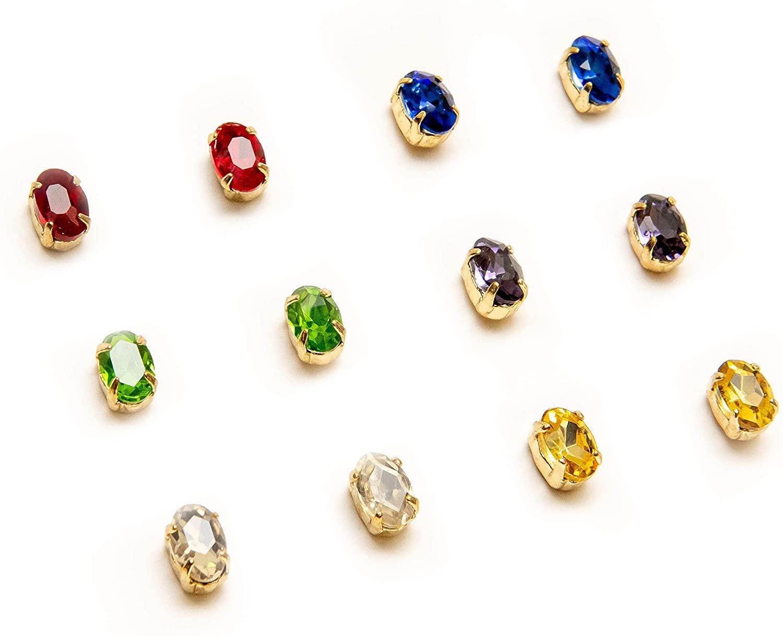 Marvel Avengers Infinity War Endgame - Infinity Stone Stud Earrings - Set of 6