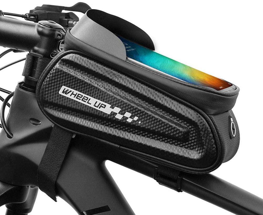 VASTAIR Bike Frame Phone Bag Waterproof EVA Handlebar Bag MTB Bicycle Top Tube Bag Sensitive Bike Phone Mount Bag Handlebar Bike Phone Case Holder