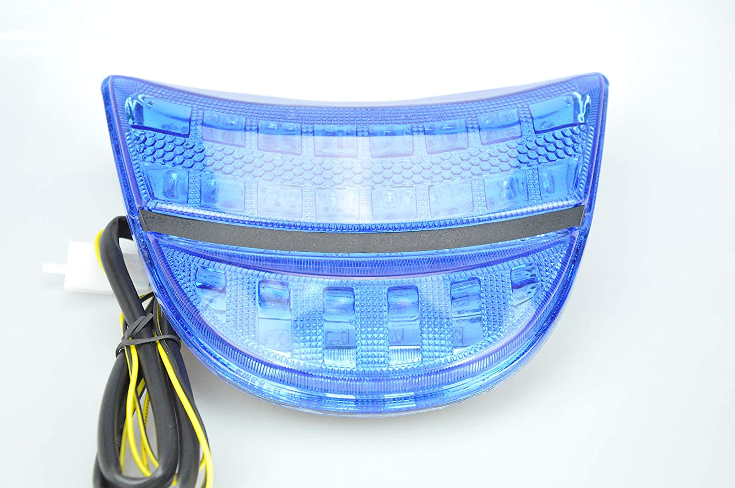 Bright Motorcycle LED Tail Light with Turn Signals for Honda 02-03 CBR900RR,CBR954RR Fireblade,Blue
