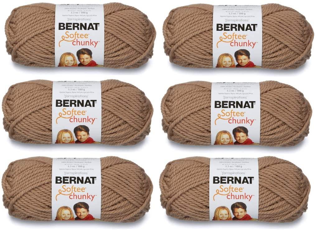 Bernat 161128-28011 Softee Chunky Yarn - Soft Taupe