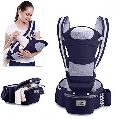 AMOCANE Baby Sling,Waist Stool Horizontal Front Holding Type, Multifunctional and Four Seasons Universal Baby Carrier Wraps - Dark Blue