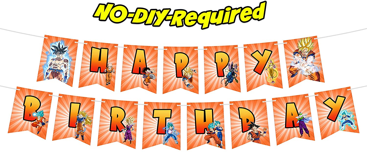 Dragon Cartoon Happy Birthday Banner Fight Game Heroes Video Game Theme Party Decorations for First Birthday Baby Shower Birthday Bunting Garland Decor Supplies