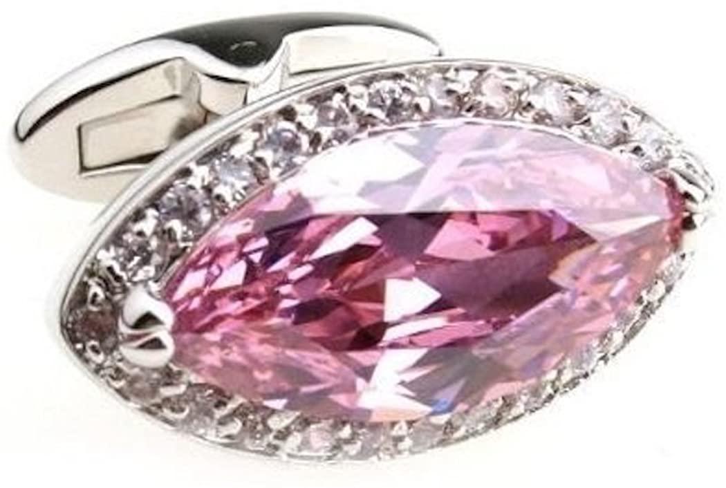 Procuffs Pink Crystal Cufflinks Wedding Gift + Free Box & Cleaner