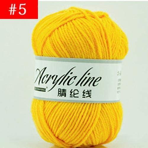 LY Wholesale 50g Acrylic Line Wool Yarn Thread Crochet Hook Weave Hand Knitting Soft Cotton Yarn DIY Scarf Sewing Supplies (5)