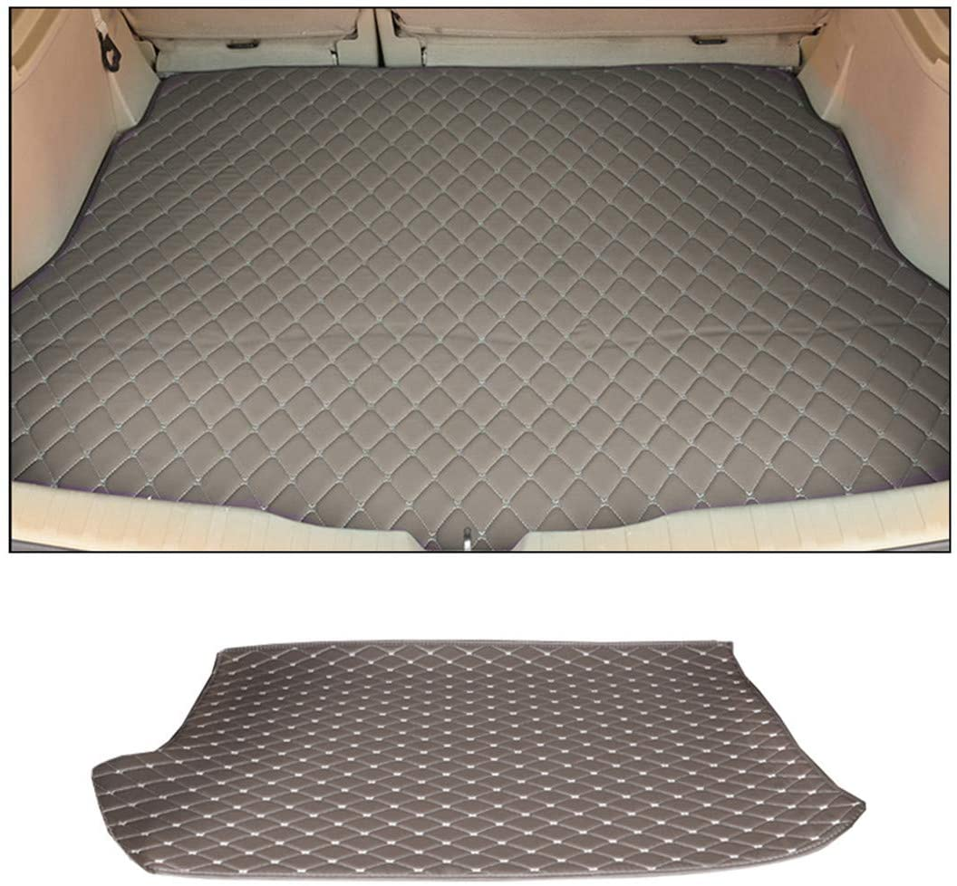 Jiahe Original Car Cargo Liner for Audi A3 Hatchback 2008-2013 (The Back Plate Has No Square Plastic) Flat Trunk Leather Floor Mat All Weather Trunk Protection,Trimmable,Durable,Foldable,Gray