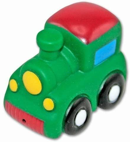 DolliBu Train Bath Buddy Squirter - Floating Green Train Rubber Bath Toy, Fun Water Squirting Bathtime Play For Toddlers, Cute & Soft Transportation Toy For The Bathtub, Beach & Pool for Boys & Girls
